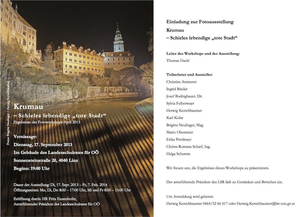 Einladung Fotoausstellung