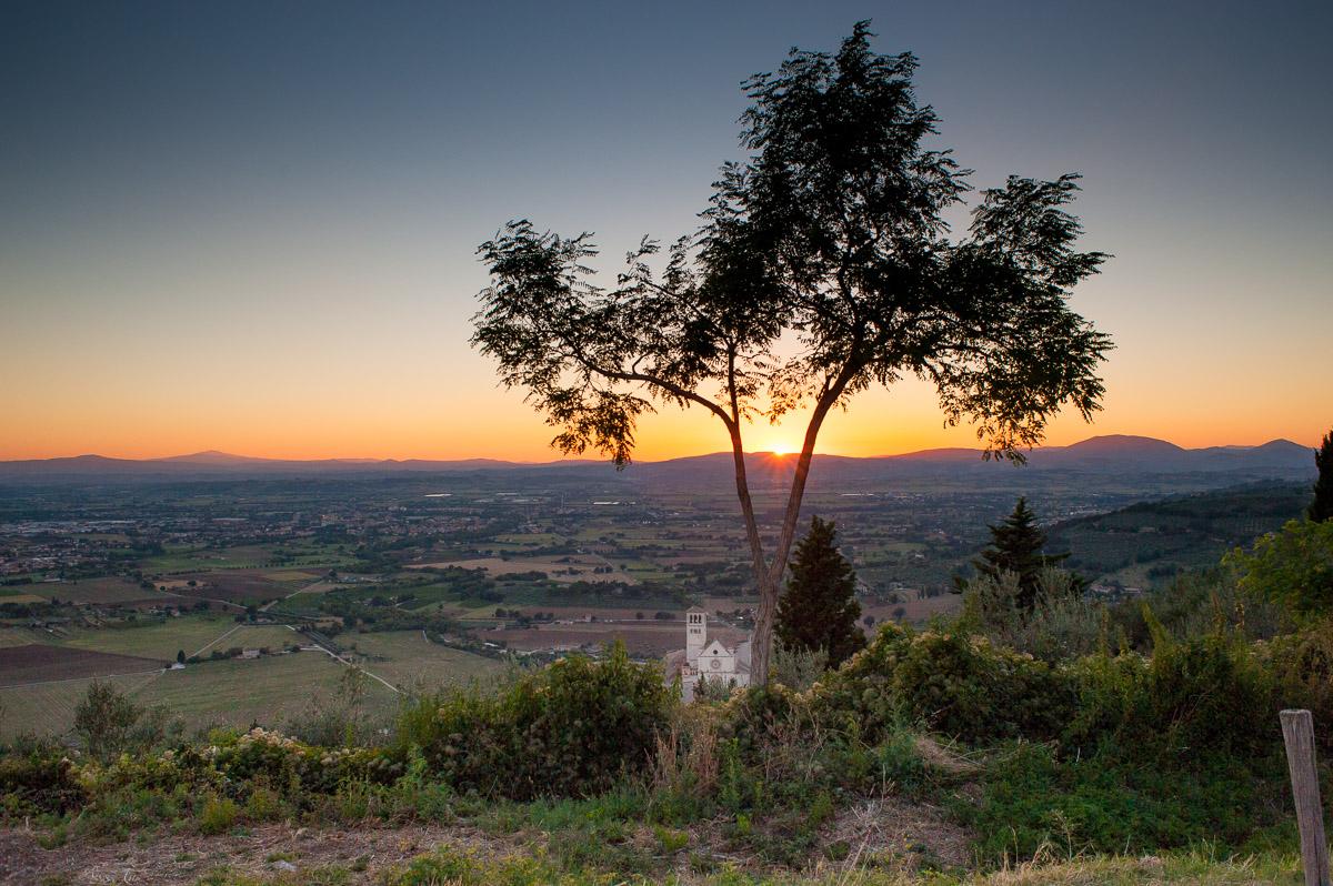 Assisi - Sonnenuntergang